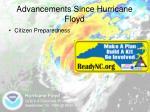 advancements since hurricane floyd12
