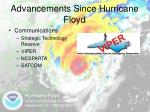 advancements since hurricane floyd5