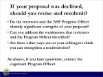 if your proposal was declined should you revise and resubmit