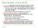 main modules of knowitall