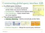 constructing global query interface qi