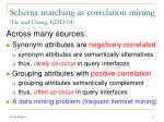 schema matching as correlation mining he and chang kdd 04