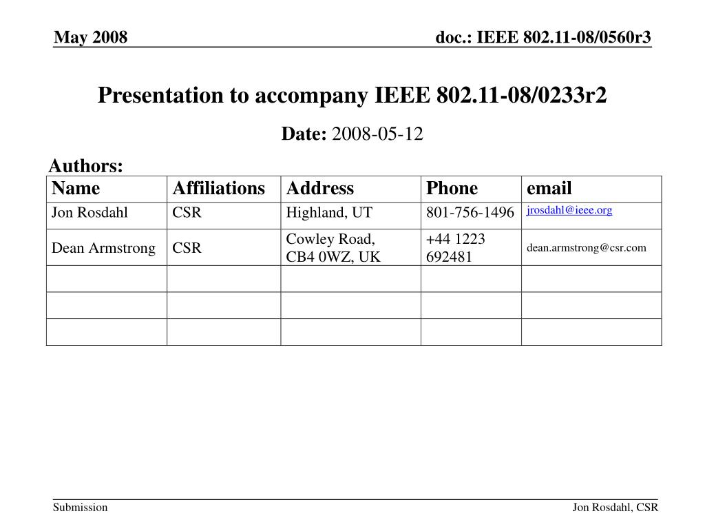 presentation to accompany ieee 802 11 08 0233r2 l.