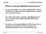 what is transmit inhibition interference