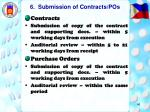 6 submission of contracts pos
