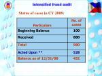 intensified fraud audit