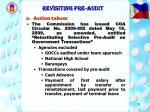 revisiting pre audit