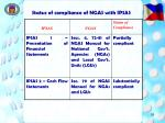 status of compliance of ngas with ipsas