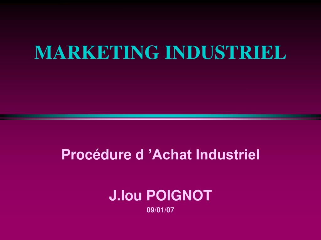 marketing industriel l.