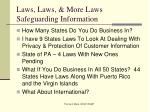 laws laws more laws safeguarding information