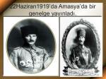 22haziran1919 da amasya da bir genelge yay nlad