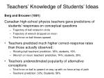 teachers knowledge of students ideas