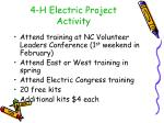 4 h electric project activity