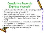 cumulative records express yourself