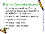 electric cumulative records