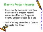 electric project records