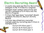 electric recruiting award