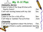 my 4 h plan20