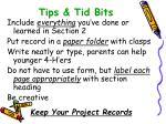tips tid bits
