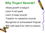 why project records