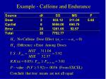 example caffeine and endurance11