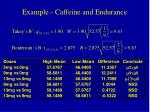 example caffeine and endurance12