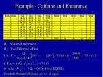 example caffeine and endurance15