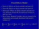 fixed effects model