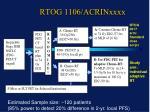 rtog 1106 acrinxxxx