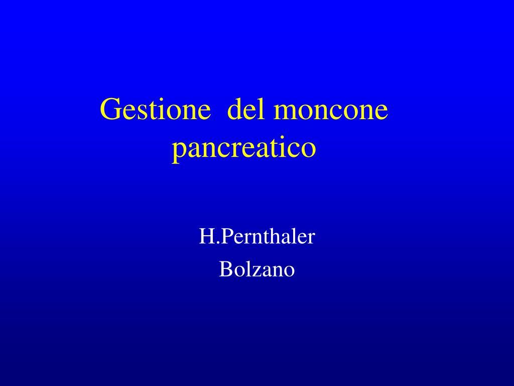 gestione del moncone pancreatico l.