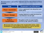 broadcasters use of the internet can be described in three phases