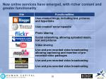 new online services have emerged with richer content and greater functionality