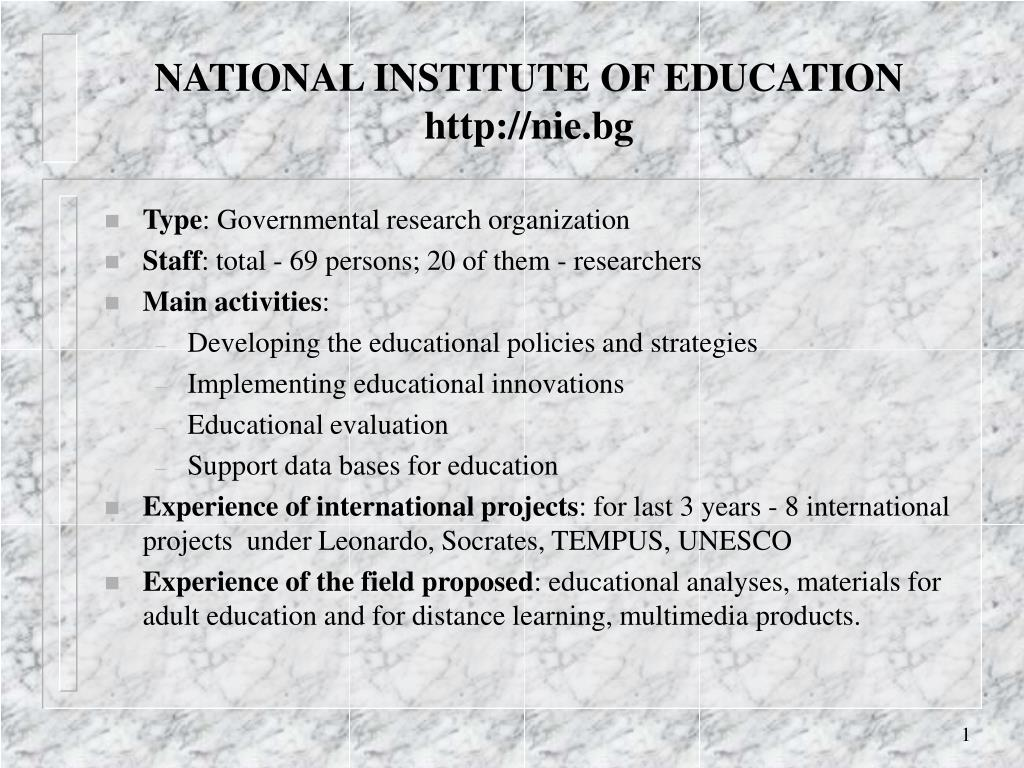 national institute of education http nie bg l.