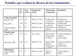 estudios que eval an la eficacia de los tratamientos31