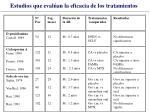 estudios que eval an la eficacia de los tratamientos32