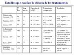 estudios que eval an la eficacia de los tratamientos33