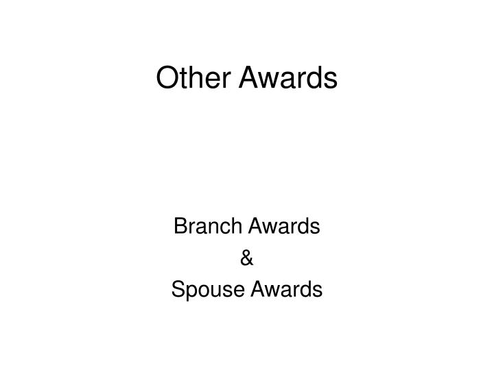 other awards n.