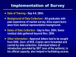 implementation of survey