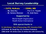local survey leadership