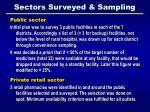 sectors surveyed sampling