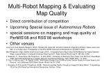 multi robot mapping evaluating map quality