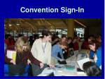 convention sign in