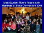 mott student nurse association members at state convention 2004