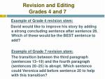revision and editing grades 4 and 7