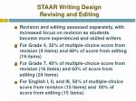 staar writing design revising and editing