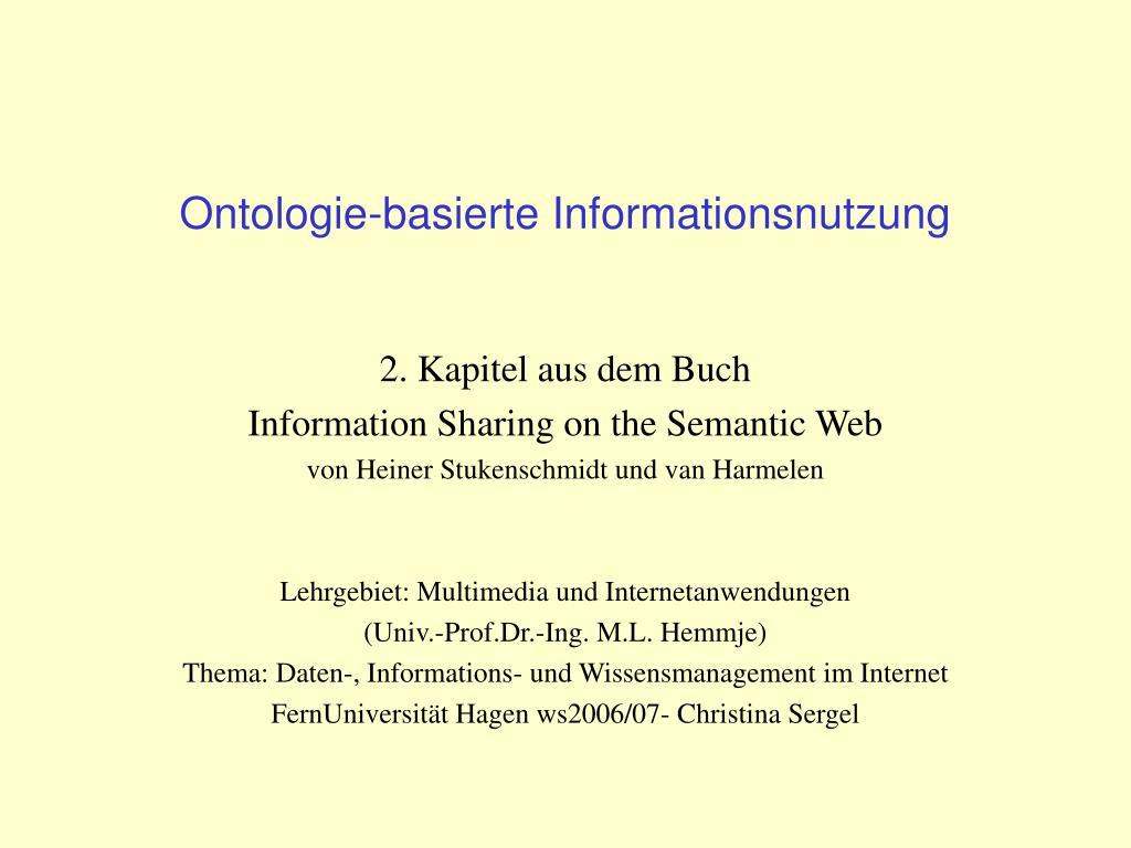 ontologie basierte informationsnutzung l.