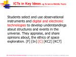 icts in key ideas eg science middle years