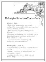 philosophy statements career goals