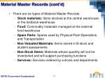 material master records cont d
