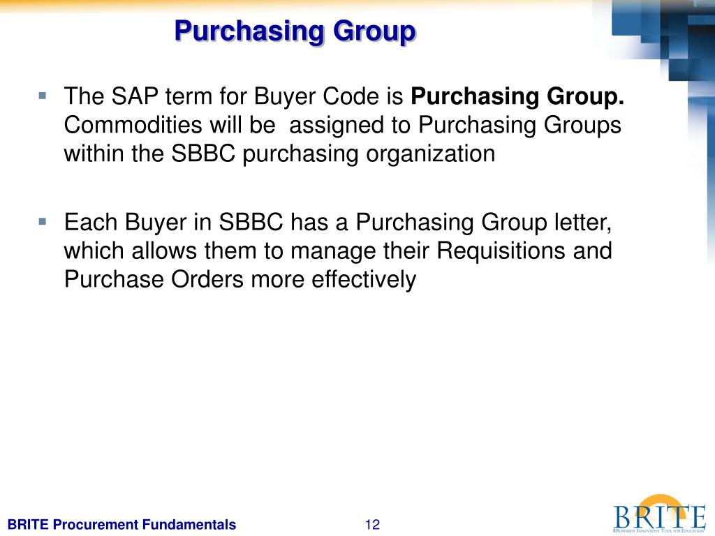 Purchasing Group